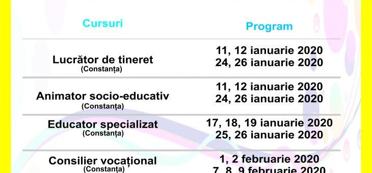 Orarul cursurilor din Ianuarie 2020